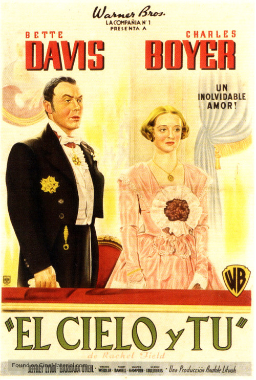 All This, and Heaven Too - Argentinian Movie Poster