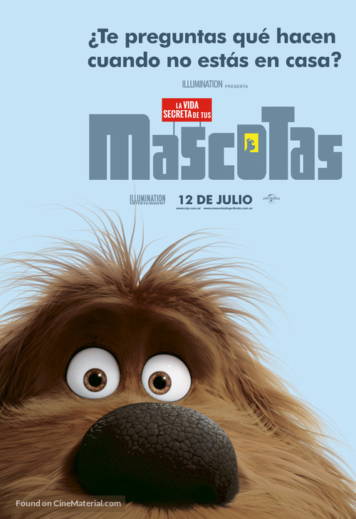 The Secret Life of Pets - Argentinian Character movie poster