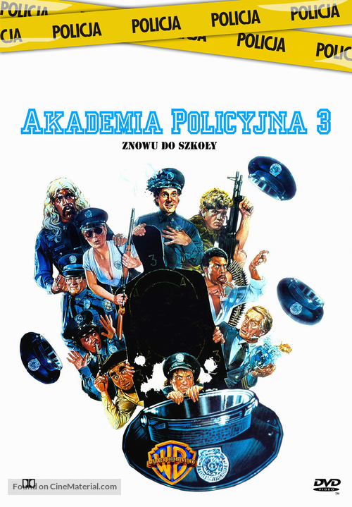 Police Academy 3: Back in Training - Polish Movie Cover