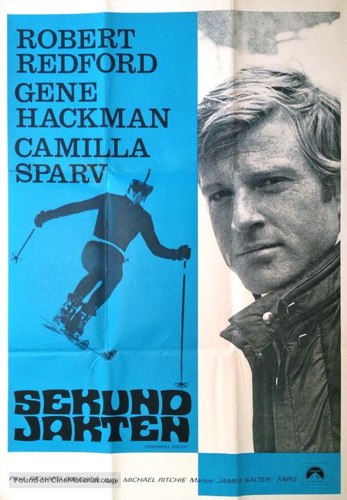 Downhill Racer - Swedish Movie Poster