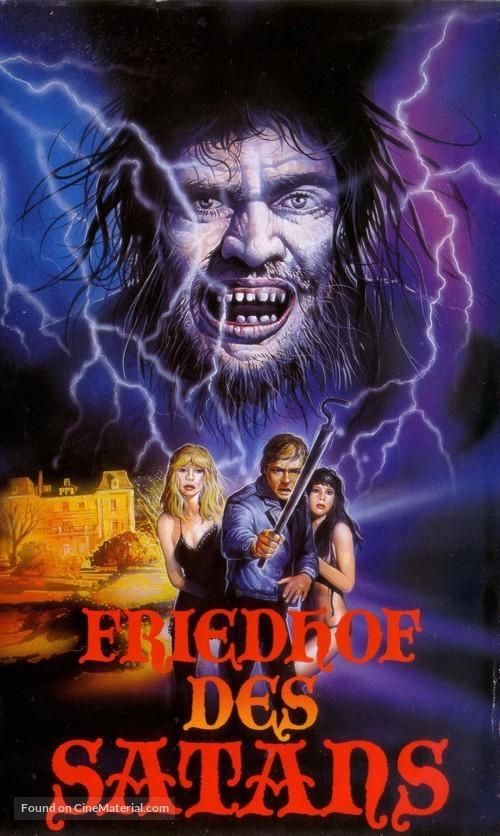 Cementerio del terror - German VHS movie cover