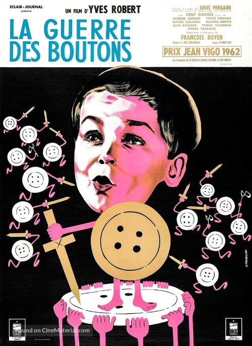 La guerre des boutons - French Movie Poster
