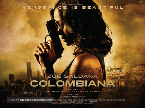 Colombiana - British Movie Poster