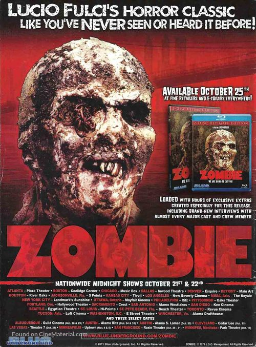 Zombi 2 - Video release movie poster