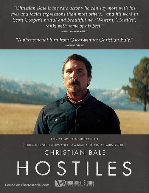 Hostiles for your consideration poster  Hostiles for yo...