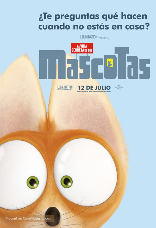 The Secret Life of Pets - Argentinian Movie Poster