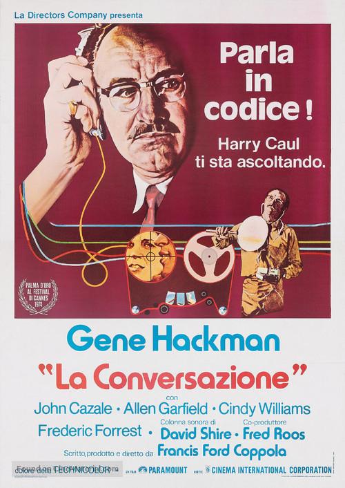 The Conversation - Italian Movie Poster