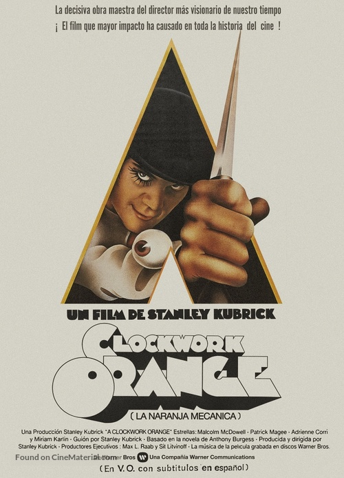 A Clockwork Orange - Spanish Movie Poster