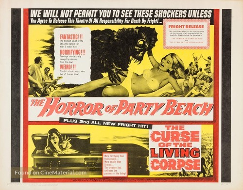 The Horror of Party Beach - Combo movie poster