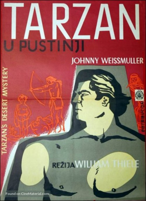 Tarzan's Desert Mystery - Polish Movie Poster