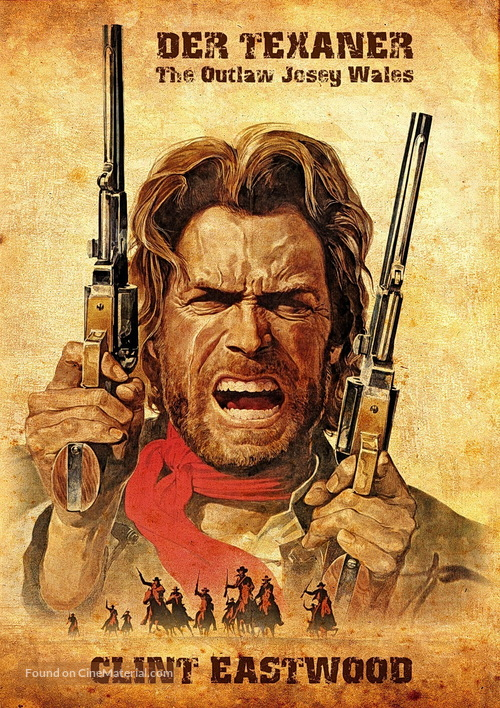 the outlaw josey wales german movie cover