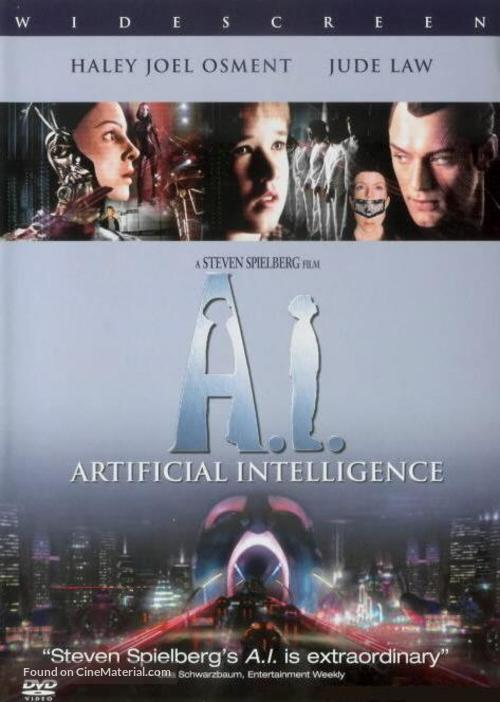 Artificial Intelligence: AI - DVD movie cover