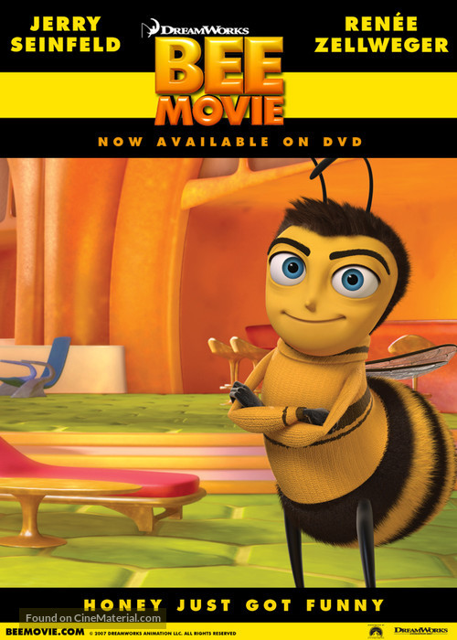 Bee Movie 2007 Video Release Movie Poster