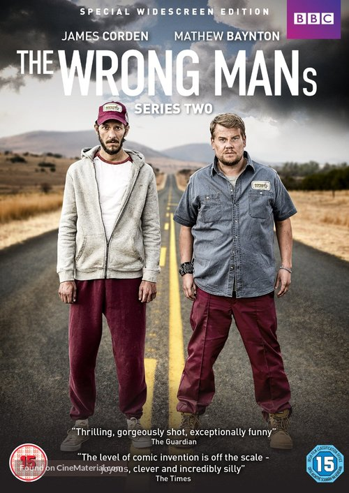 """""""The Wrong Mans"""" - British DVD movie cover"""