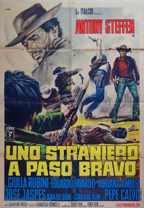 Uno straniero a Paso Bravo - Italian Movie Poster