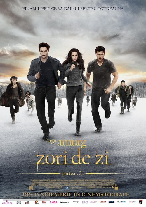 The Twilight Saga: Breaking Dawn - Part 2 - Romanian Movie Poster