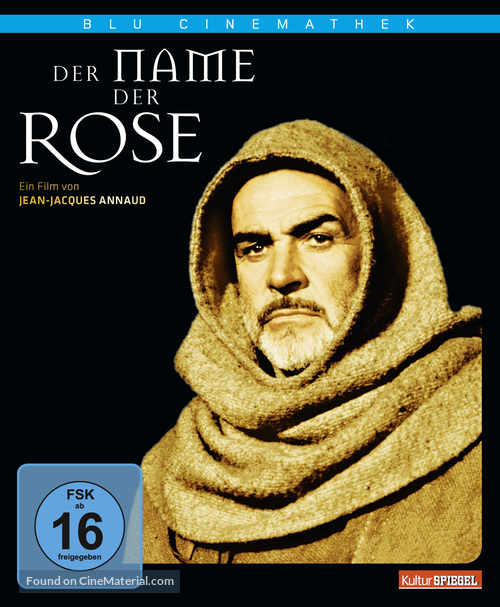 The Name of the Rose - German Blu-Ray movie cover