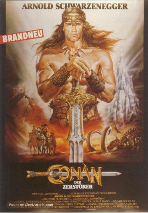 Conan The Destroyer - German Movie Poster