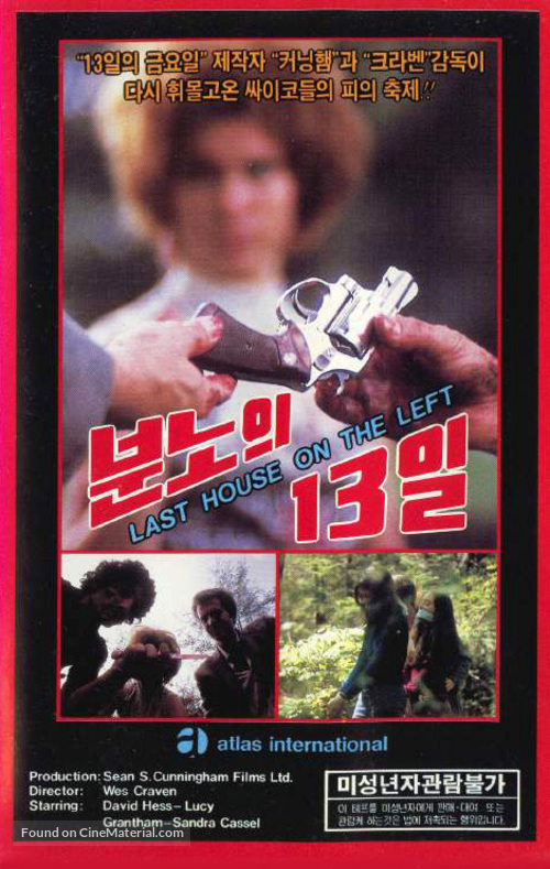 The Last House on the Left - South Korean Movie Cover