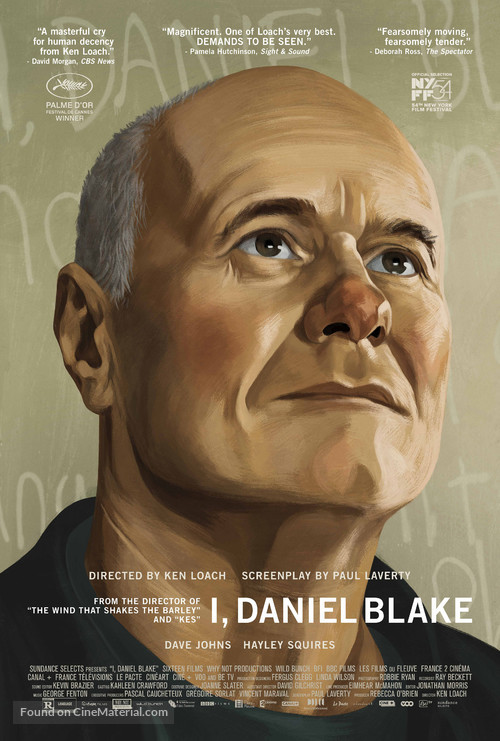 I, Daniel Blake - Movie Poster