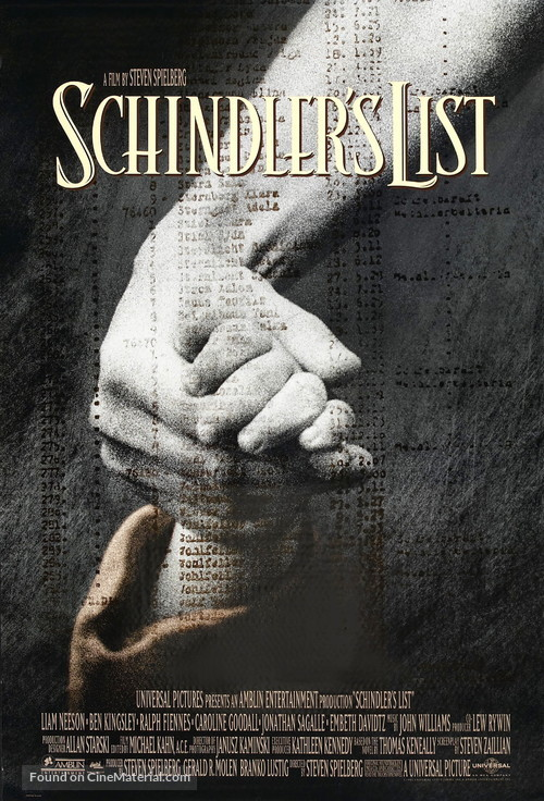 Schindler's List - Movie Poster