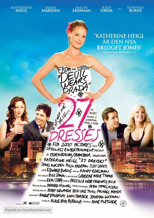 27 Dresses - Swedish Movie Poster