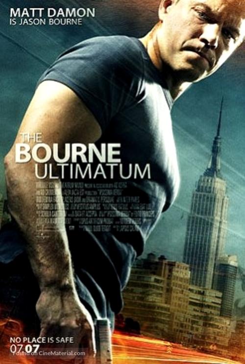 The Bourne Ultimatum - British Movie Poster