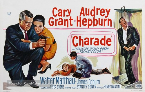 Charade - Belgian Movie Poster