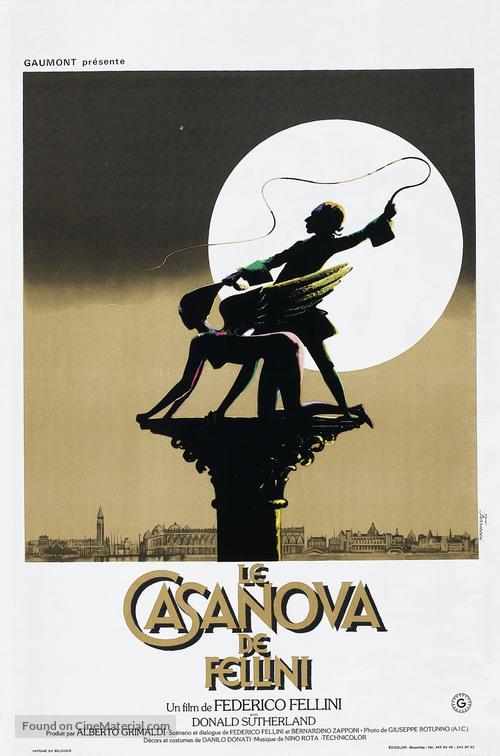 Il Casanova di Federico Fellini - Belgian Movie Poster