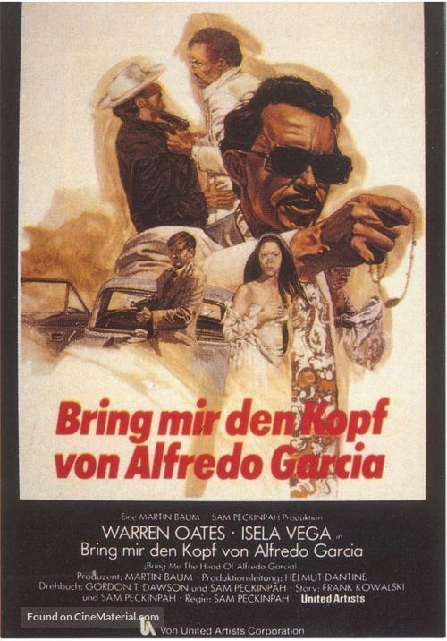 Bring Me the Head of Alfredo Garcia - German Movie Poster