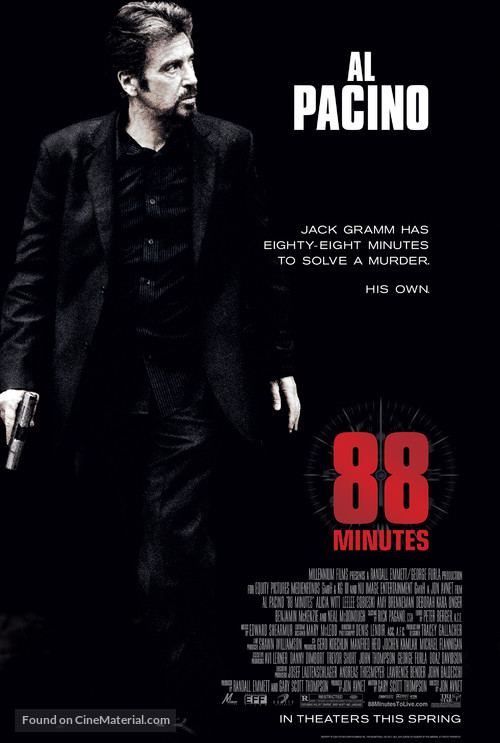 88 Minutes - Movie Poster