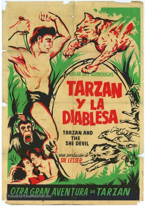Tarzan and the She-Devil - Argentinian Movie Poster