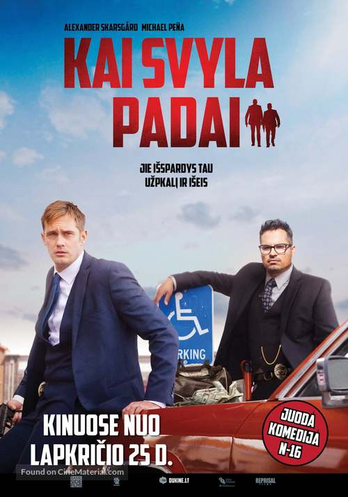 War on Everyone - Lithuanian Movie Poster