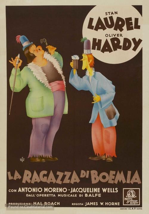 The Bohemian Girl - Italian Movie Poster