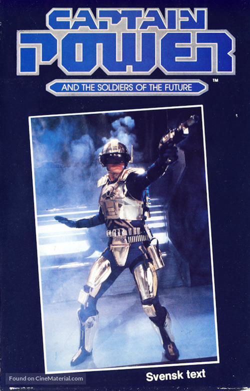 """""""Captain Power and the Soldiers of the Future"""" - Swedish VHS movie cover"""