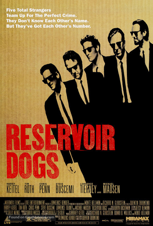 Reservoir Dogs - Theatrical movie poster