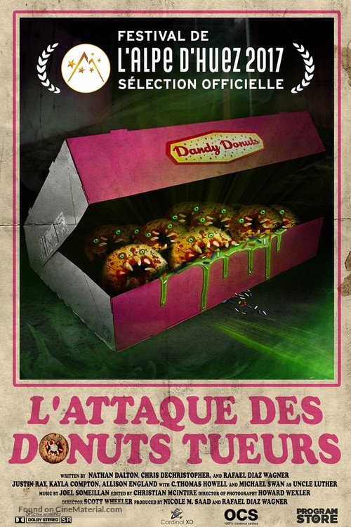Attack of the Killer Donuts - French Movie Poster
