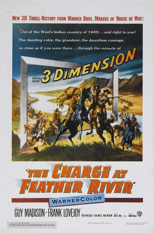 The Charge at Feather River - Theatrical movie poster