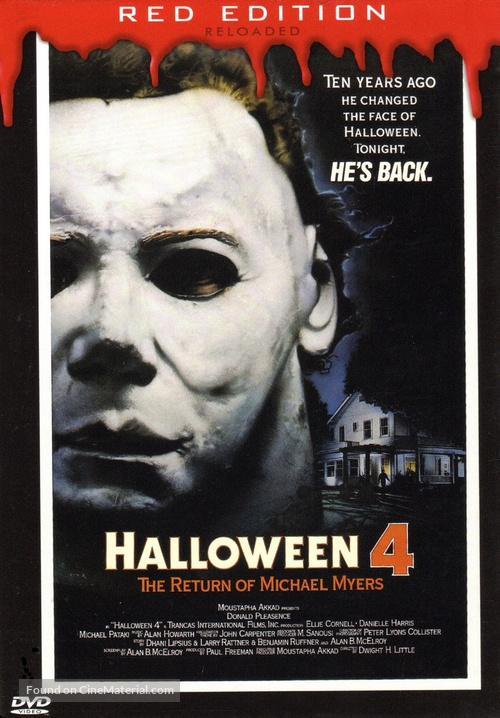 Halloween 4: The Return of Michael Myers - German DVD movie cover