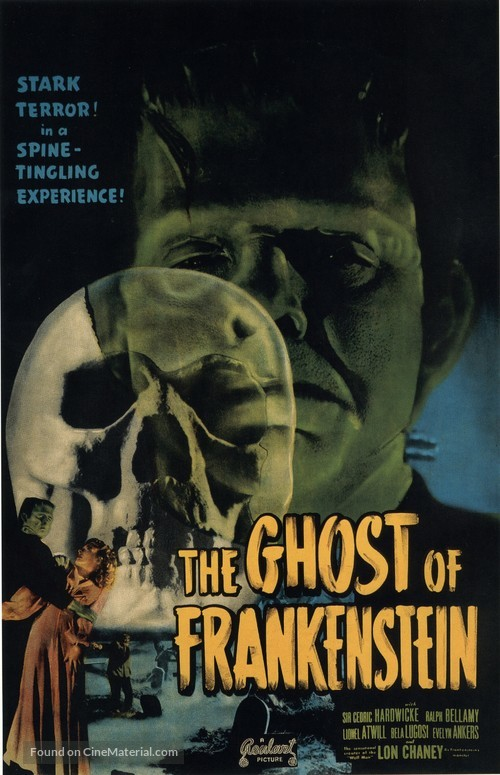 The Ghost of Frankenstein - Re-release movie poster