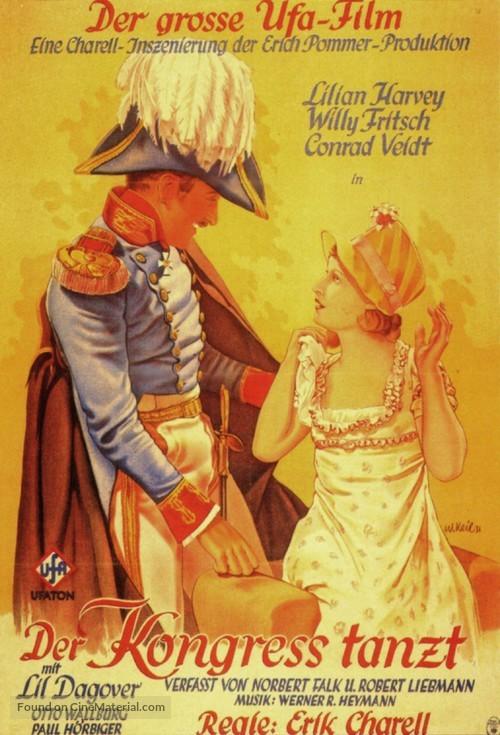 Der Kongreß tanzt - German Movie Poster