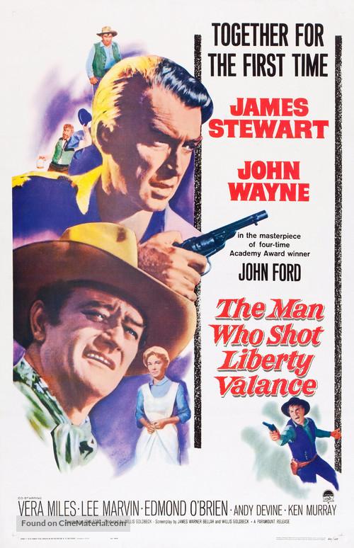 The Man Who Shot Liberty Valance - Movie Poster