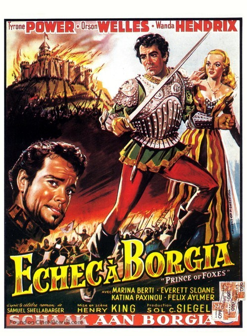 Prince of Foxes - Belgian Movie Poster