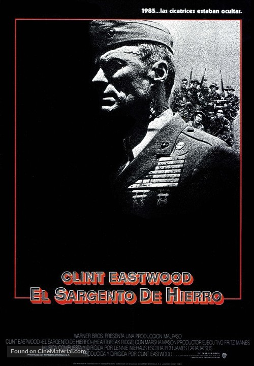 Heartbreak Ridge - Spanish Movie Poster
