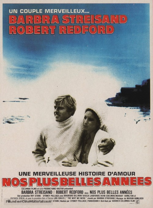 The Way We Were - French Movie Poster