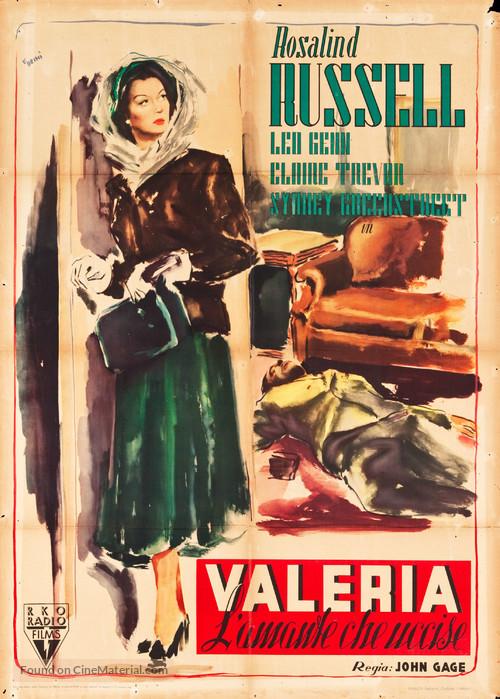 The Velvet Touch - Italian Movie Poster