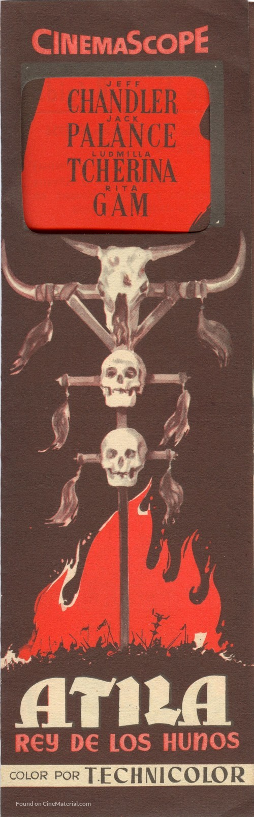 Sign of the Pagan - Spanish Movie Poster