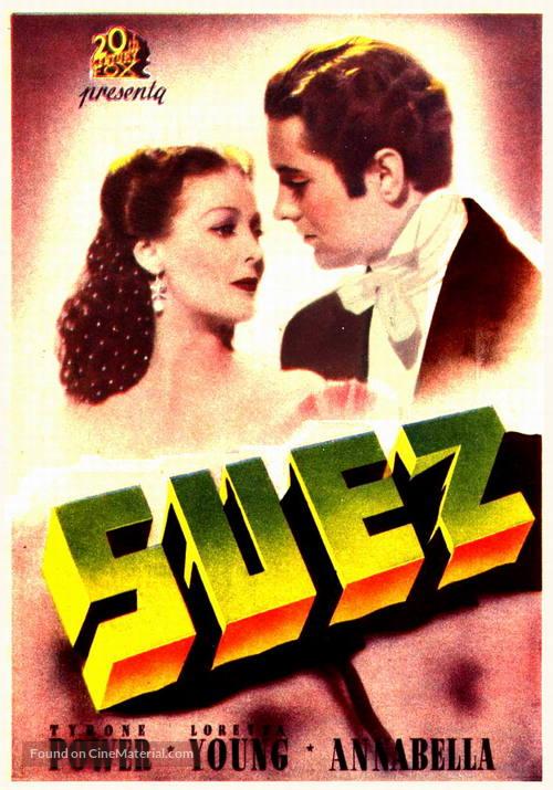 Suez - Spanish Movie Poster