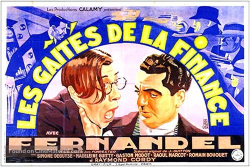 Les gaîtés de la finance - French Movie Poster