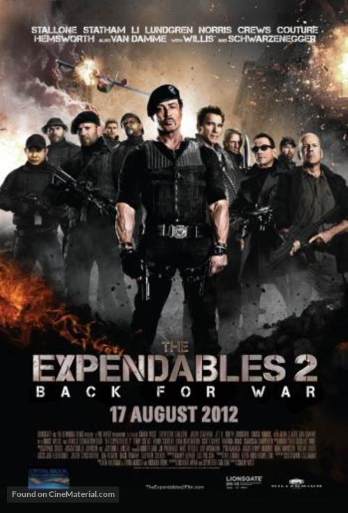 The Expendables 2 2012 South African Movie Poster
